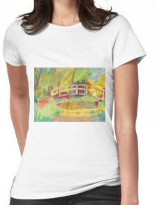 Monet's Japanese Bridge- Color Womens Fitted T-Shirt