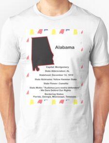 Alabama State Facts T-Shirt