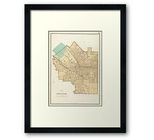 Vintage Map of Syracuse New York (1895) Framed Print