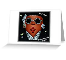 A Funny Face Greeting Card