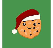 Cute Christmas Cookie Photographic Print