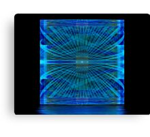 Blue Splits Crop Box Canvas Print