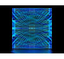 Blue Splits Crop Box Photographic Print