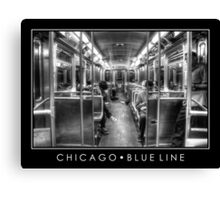 Blue Line to O'Hare Canvas Print
