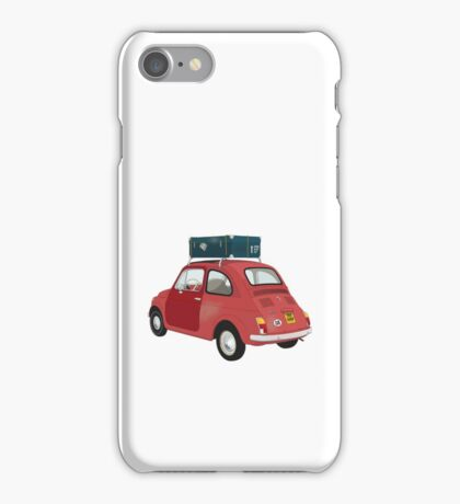Fiat 500 vector iPhone Case/Skin