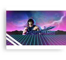 Rambo 80's Future Metal Print