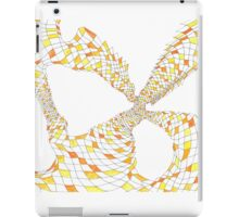 Geometric landscape orange drawing iPad Case/Skin