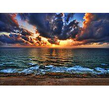 the sunset royal, Tel Aviv Photographic Print