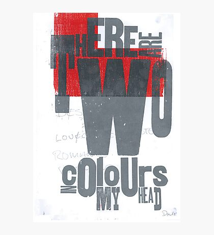 There are two colours in my head Photographic Print