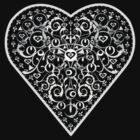 Ironwork heart white by venitakidwai1