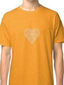 Ironwork heart white Classic T-Shirt