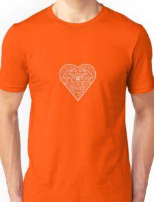 Ironwork heart white Unisex T-Shirt
