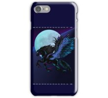 Black Pegasus and Blue Moon iPhone Case/Skin