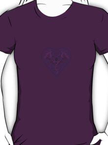 Ironwork heart purple T-Shirt