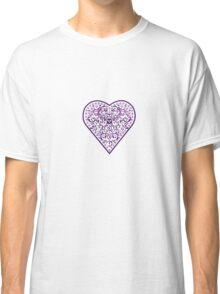 Ironwork heart purple Classic T-Shirt
