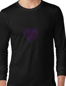 Ironwork heart purple Long Sleeve T-Shirt