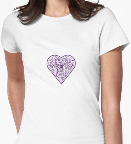 Ironwork heart purple Womens Fitted T-Shirt