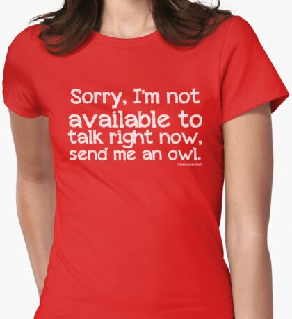 Send me an Owl Womens Fitted T-Shirt