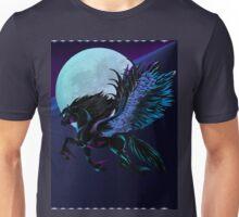 Black Pegasus and Blue Moon Unisex T-Shirt
