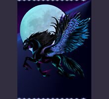 Black Pegasus and Blue Moon Unisex T-Shirt