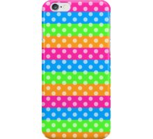 Fluorescent Rainbow with Polka Dots  iPhone Case/Skin