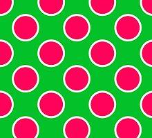 Watermelon Polka Dots  by runninragged