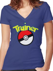 Trainer Women's Fitted V-Neck T-Shirt