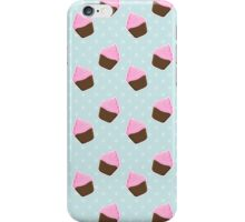 Chocolate Cupcake Pattern  iPhone Case/Skin