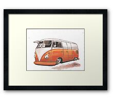 Orange Bus Framed Print