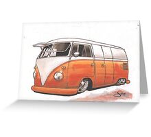 Orange Bus Greeting Card