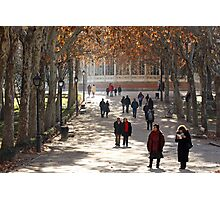 Madrid Park stroll Photographic Print