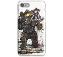 Bioshock Subject Delta with Little Sister sumi style iPhone Case/Skin