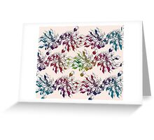 floral seamless pattern with hand drawn flowering crocus Greeting Card