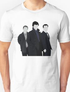 Sherlock,John and Jim Unisex T-Shirt