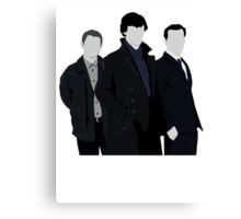 Sherlock,John and Jim Canvas Print