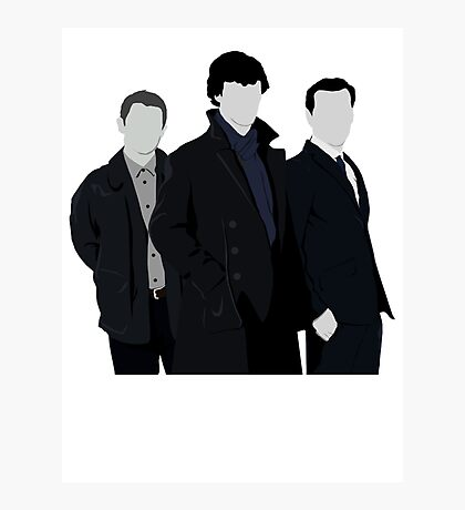 Sherlock,John and Jim Photographic Print