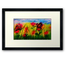 Butterflies to chase,watercolor Framed Print