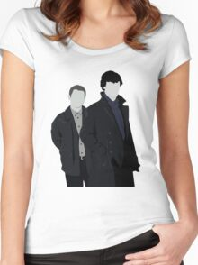 Sherlock and John Women's Fitted Scoop T-Shirt