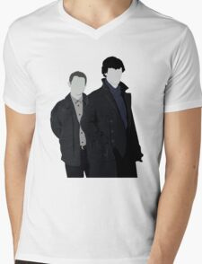Sherlock and John Mens V-Neck T-Shirt