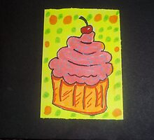 Sprinkled Cupcake ACEO Card by Dean Kealy