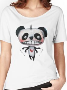 Flying Unicorn Panda by Jacqueline Myers-Cho Women's Relaxed Fit T-Shirt