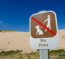 No pets sign - Sand Dunes - Traverse City, MI  by pramodmeee