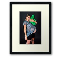 9 month pregnant woman  Framed Print