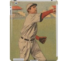Benjamin K Edwards Collection Mordecai Brown Arthur Hofman Chicago Cubs baseball card portrait iPad Case/Skin