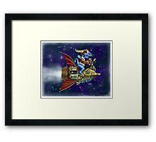 Verne's Steamrocket Framed Print