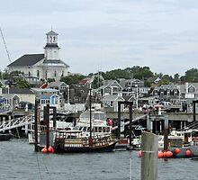Pronvincetown Harbor by Chris  Bradshaw
