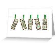 Burnt Money Greeting Card