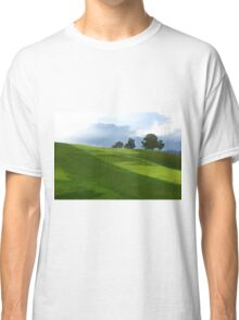 Rolling Green Fields at End of Day Classic T-Shirt