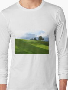 Rolling Green Fields at End of Day Long Sleeve T-Shirt