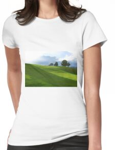 Rolling Green Fields at End of Day Womens Fitted T-Shirt